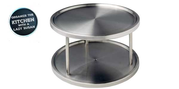 Torre circular Duo Wenko para armarios con 2 bandejas giratorias barata en Amazon