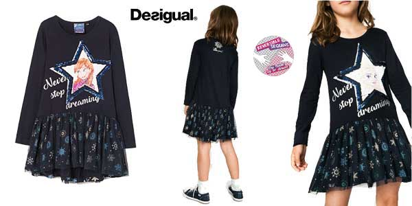 Vestido reversible Desigual Saltlakecity para niña barato en Amazon Moda