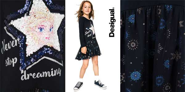 Vestido reversible Desigual Saltlakecity para niña chollo en Amazon Moda