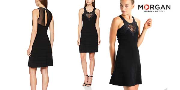 Vestido Morgan Rjane negro elegante para mujer barato en Amazon Moda