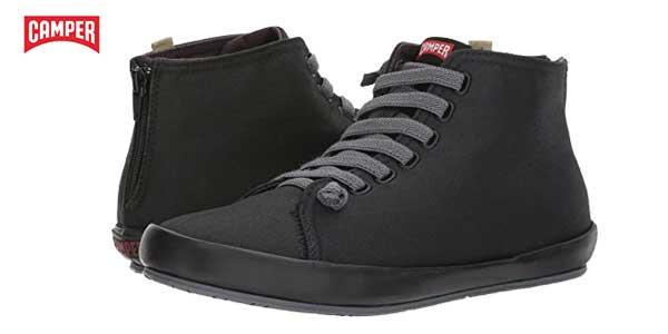 Zapatillas altas Camper Borne de lona negras para mujer baratas en Amazon Zapatos