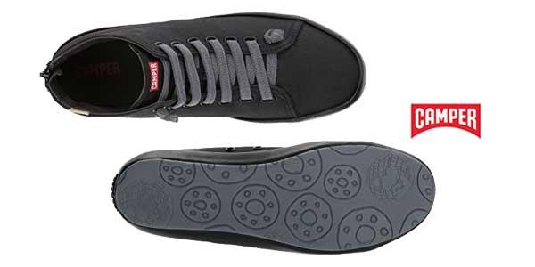 Zapatillas altas Camper Borne de lona negras para mujer chollo en Amazon Zapatos
