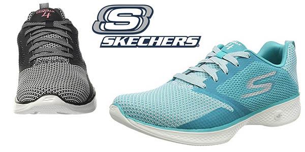 Chollazo Zapatillas Skechers Go Walk 4 para mujer desde sólo