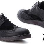 Zapatos Xti Oxford de color negro para hombre baratos