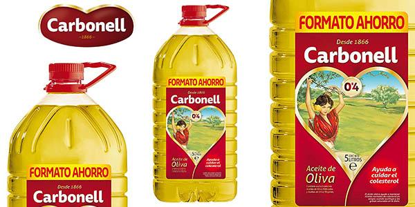 Aceite de oliva Carbonell 0,4 grados en garrafa de 5 litros oferta