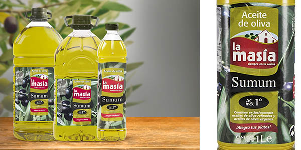 Aceite de oliva La Masía Sumum intenso en envase ahorro