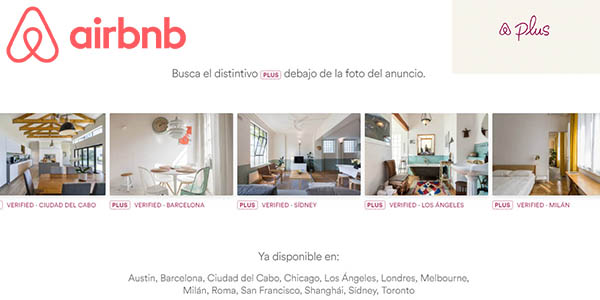 Airbnb Plus alojamientos con calidad verificada febrero 2018