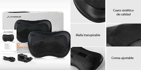 Almohada masajeadora 3D para cuello y espalda Hangsun MG100 con 4 cabezales en oferta