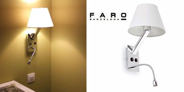 Oferta flash aplique de cama faro barcelona moma con luz for Lamparas cabezal cama