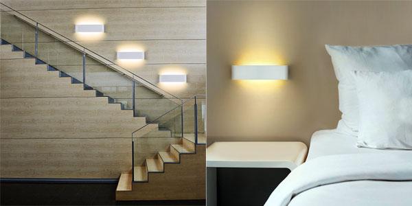 Aplique de pared LED NetBoat de diseño moderno en blanco frío o cálido oferta en Amazon