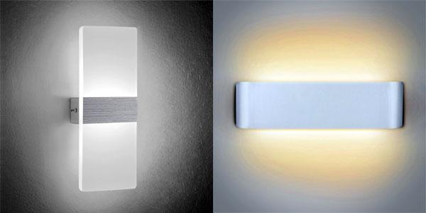 Aplique de pared LED NetBoat de diseño moderno en blanco frío o cálido barato en Amazon