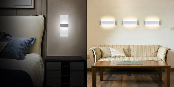 Aplique de pared LED NetBoat de diseño moderno en blanco frío o cálido chollo en Amazon