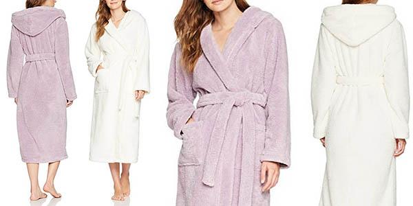 bata Iris & Lilly con forro polar y capucha para mujer oferta