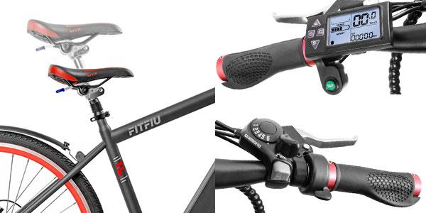 Bicicleta eléctrica Fitfiu de 250W con cambio Shimano en oferta