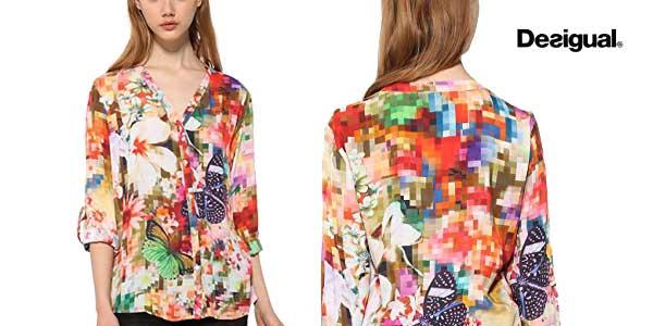 Blusa Desigual Sol para mujer chollazo en Amazon Moda