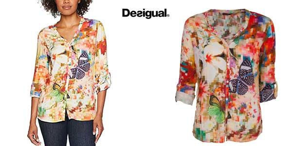Blusa Desigual Sol para mujer chollo en Amazon Moda
