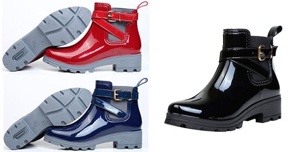 Nuevos objetos precio más bajo con zapatos de otoño CHOLLO FLASH: Botas de lluvia impermeables para mujer ...