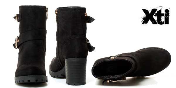 Botines Xti Lucy de tacón cuadrado de 7,5 cm para mujer chollo en eBay