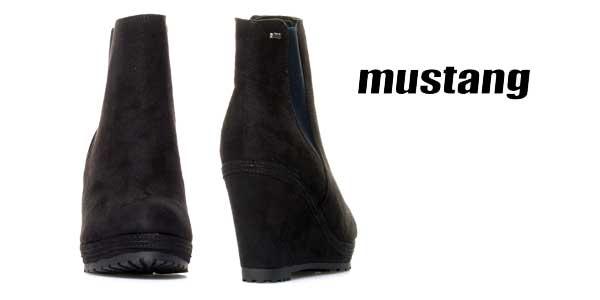 Botines Mustang Yera en color negro para mujer chollo en eBay España