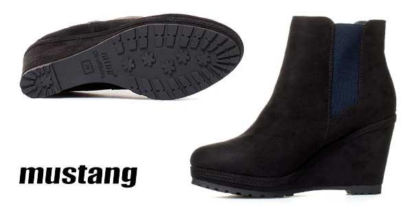 Botines Mustang Yera en color negro para mujer chollazo en eBay España