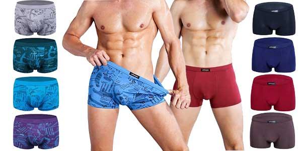 Pack de 4 boxers Wirarpa stretch con muy buenas valoraciones baratos en Amazon Moda