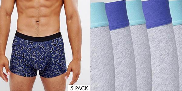 calzoncillos bóxers para hombre Asos genial relación calidad-precio