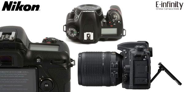 Cámara Réflex Nikon D7500 DSLR de 21 MP, 4K, Wifi y Bluetooth con zoom Nikon AF-S DX 18-140mm chollo en eBay España