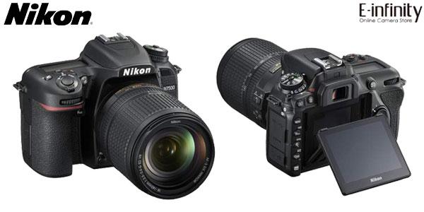 Cámara Réflex Nikon D7500 DSLR de 21 MP, 4K, Wifi y Bluetooth con zoom Nikon AF-S DX 18-140mm chollazo en eBay