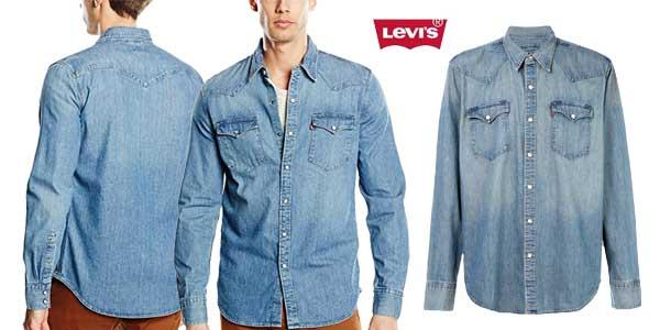 Camisa vaquera Levi's Barstow Western para hombre barata en Amazon Moda