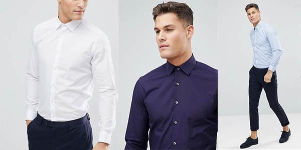 camisas French Connection corte slim para hombre cupón descuento Asos