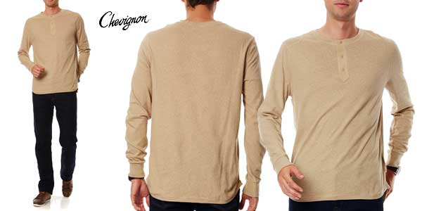 Camiseta Chevignon de manga larga para hombre en color beige barata en eBay España