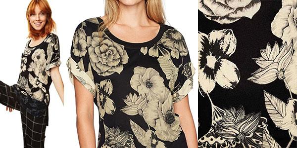 Camiseta estampada Desigual Irisa para mujer en oferta