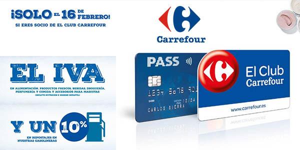 Carrefour Supermercado Día sin IVA alimentación, bebidas y gasolinera