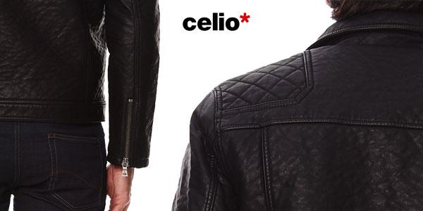 Chaqueta de piel sintética Celio Fuperfect para hombre chollo en eBay