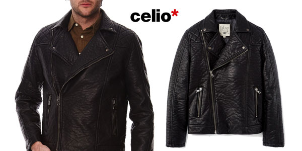 Chaqueta de piel sintética Celio Fuperfect para hombre chollazo en eBay