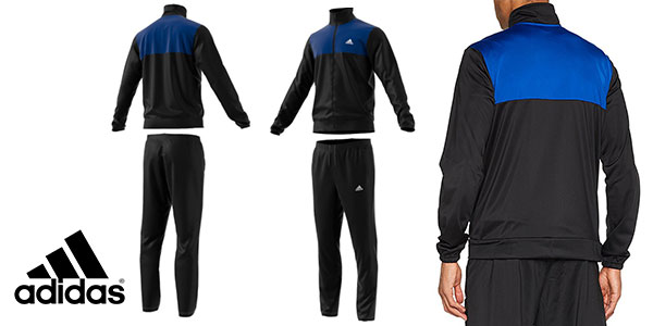 Chándal Adidas Back 2 Basics de color negro y azul para hombre en oferta