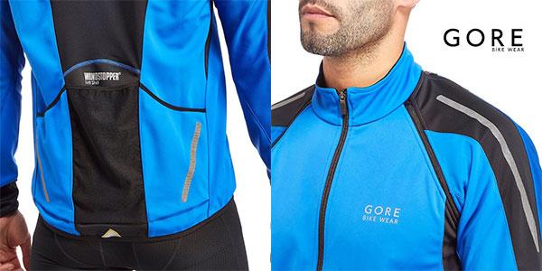 Chaqueta ciclista 3 en 1 Gore Windstopper Soft Shell Phantom 2.0 de color azul brillante para hombre barata