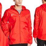 Chaqueta Nike Team Sideline Rain Jacket impermeable hidrófuga con Dri-FIT en color azul rojo barata en Amazon España