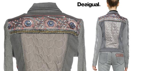 Chaqueta de mezclilla Desigual Exotic Silver para mujer chollazo en Amazon Moda