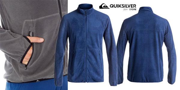 Forro polar Quiksilver Cosmo Polartec Zip Mid Layer para hombre en rojo o en azul chollo en eBay