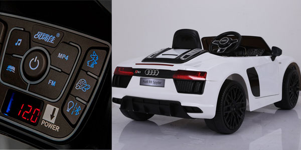 Audi R8 Spyder eléctrico para niños monoplaza, licencia oficial Audi chollo en Amazon España
