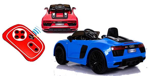 Audi R8 Spyder eléctrico para niños monoplaza, licencia oficial Audi oferta en Amazon España