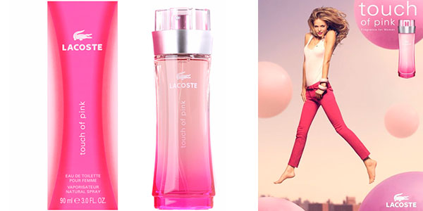 Colonia Lacoste Touch of Pink en formato vaporizador de 90 ml en oferta