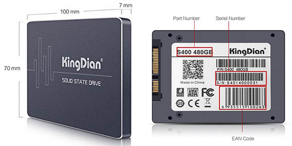 Disco SSD KingDian S400 de 480 GB barato