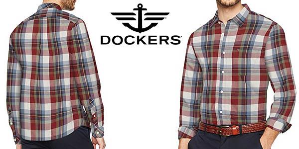 Para Por Shirt Poplin Camisa Hombre Ls Laundered Chollazo Dockers TqHfxwaqA