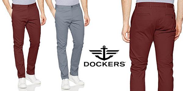 Dockers Washed Khaki skinny Stretch Twill pantalón chino para hombre oferta