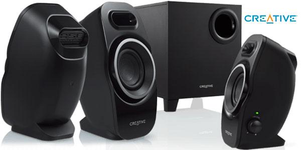 Equipo de sonido 2.1 Creative A250 de color negro en oferta