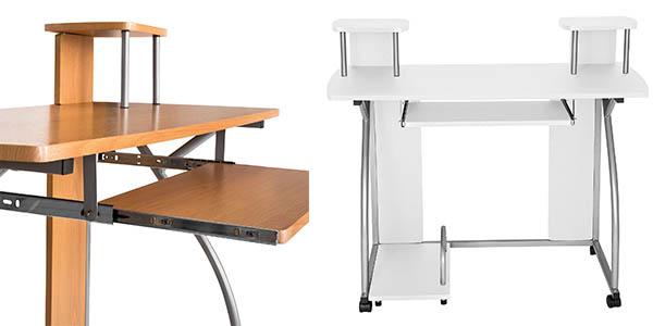 escritorio para ordenador con estantes y compartimentos con genial relación calidad-precio