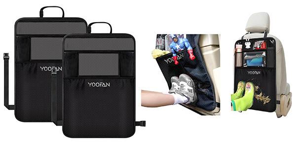 fundas para asiento coche con compartimento para tableta en material resistente