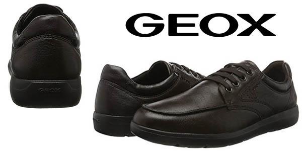 Geox U Leitan B zapatos de cuero para hombre oferta
